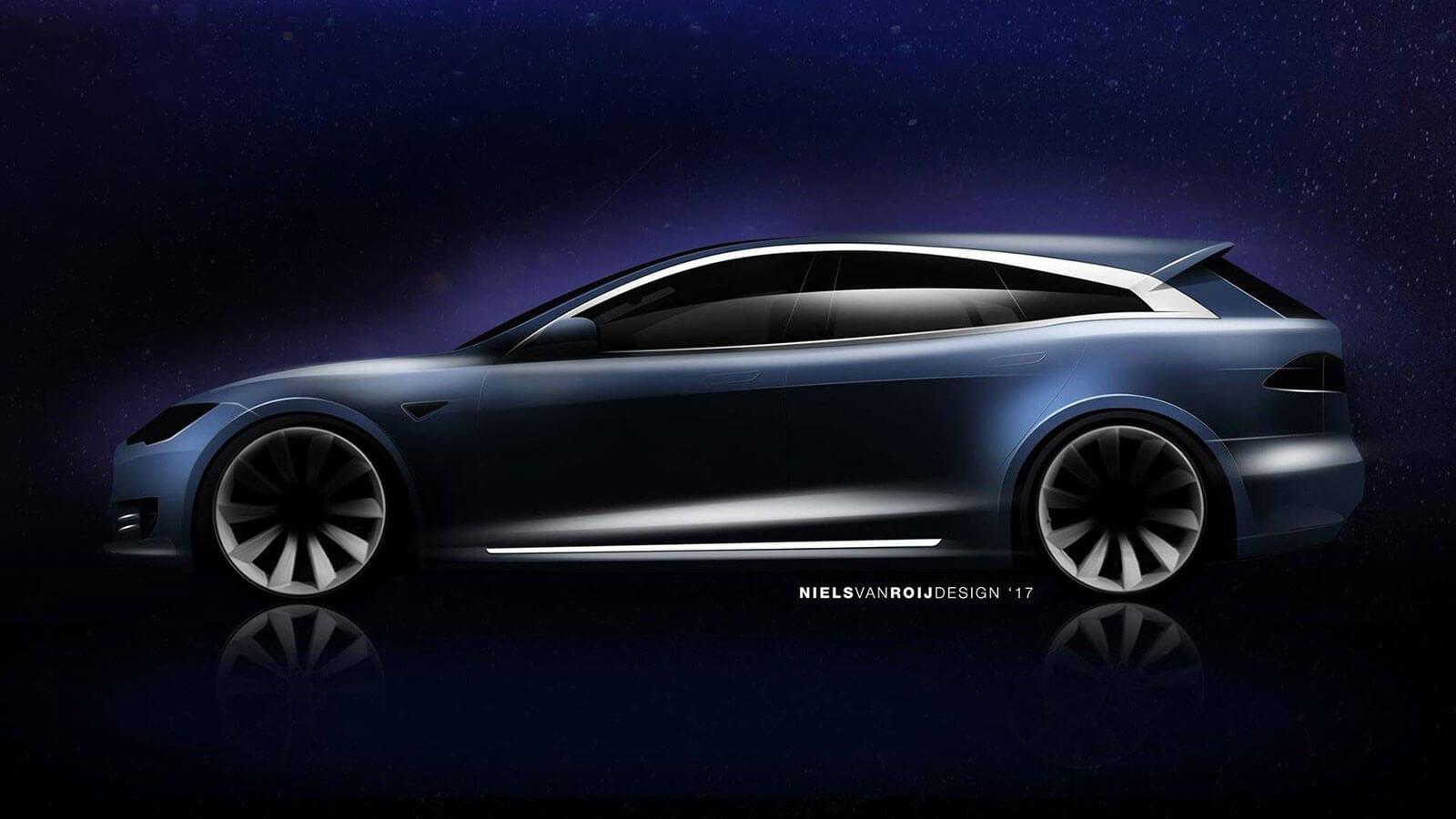 Опубліковані зображення спортивного універсала Tesla Model S