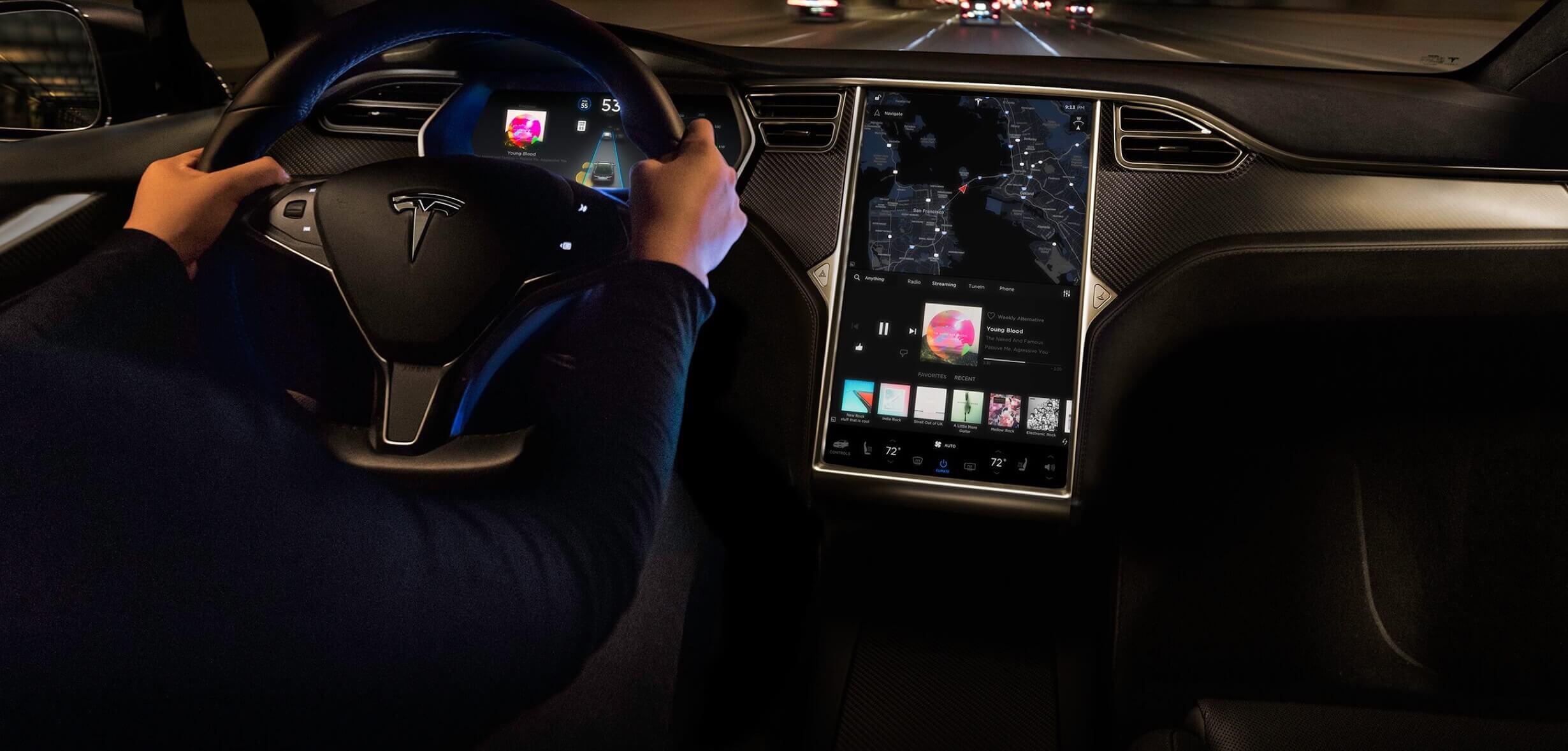 Електрокари Tesla незабаром отримають нову навігацію