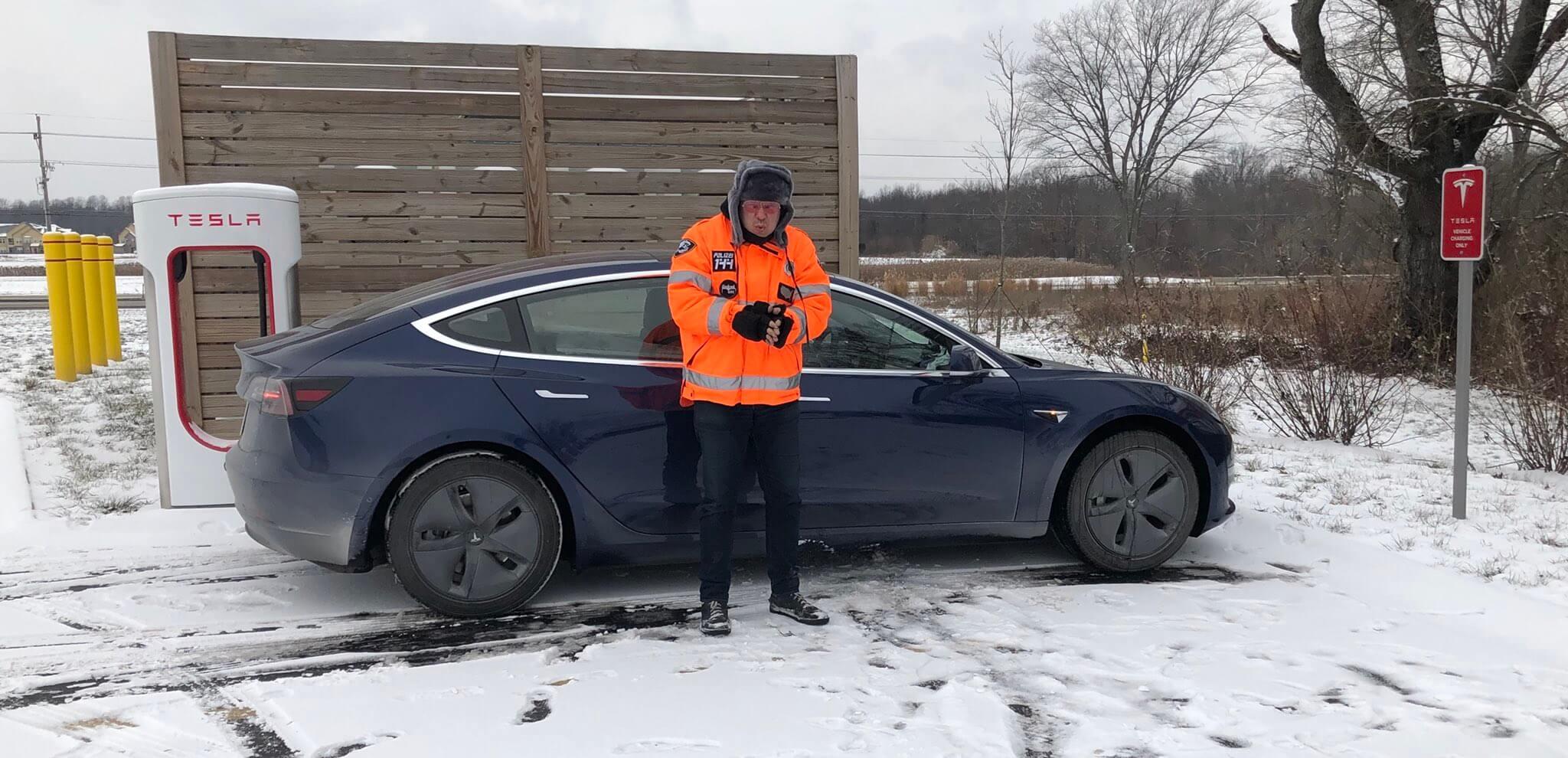 Пробіг Tesla Model 3: 4500 км в морозну погоду