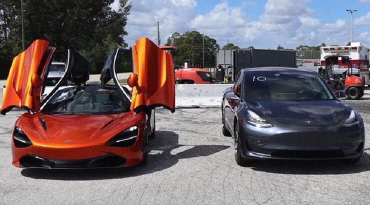 Відео: Tesla Model 3 проти McLaren 720S