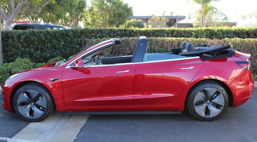 З Tesla Model 3 зробили кабріолет: вартість переобладнання дорівнює ціні самого авто