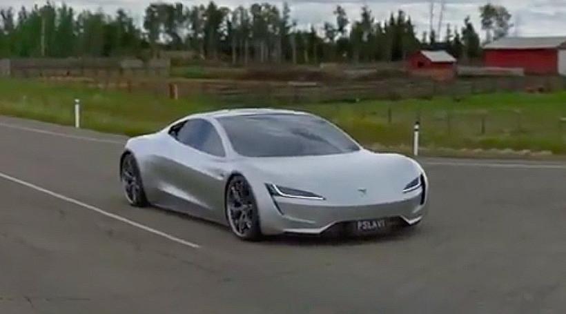 """Відео: як Tesla Roadster SpaceX прискорюється до """"сотні"""" за 1,1 сек"""